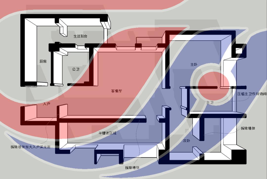 滁州裝修案例2021年設計案例94㎡北歐風格