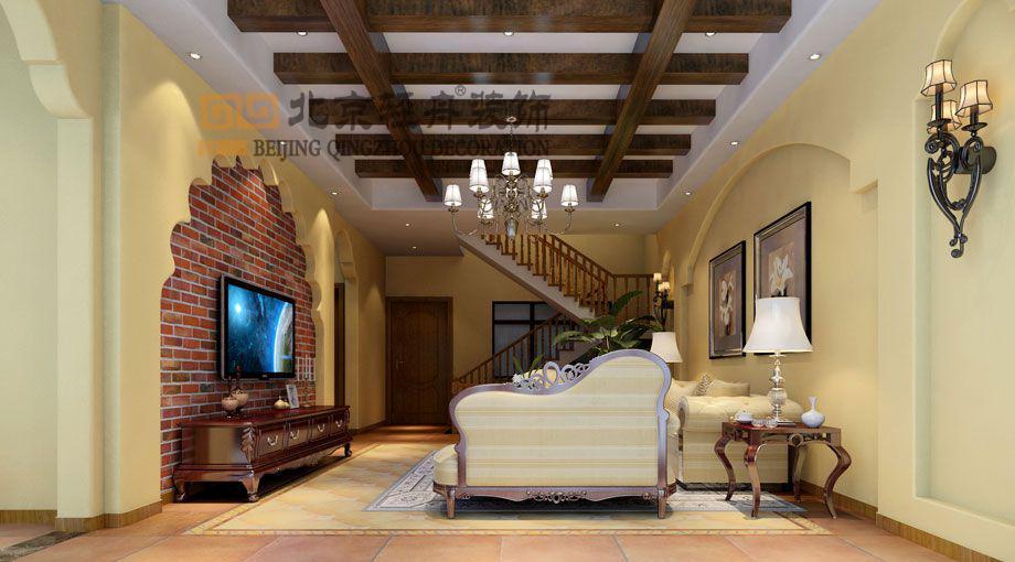 贵阳装修案例中铁逸都国际别墅美式风格