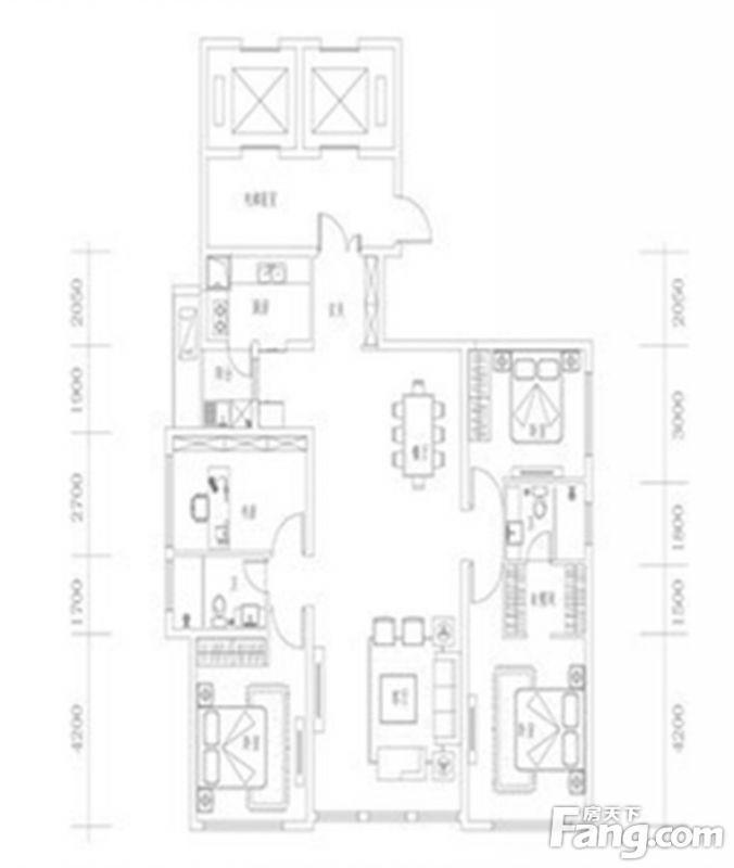 廈門裝修方案02單元|4室2廳2衛1廚