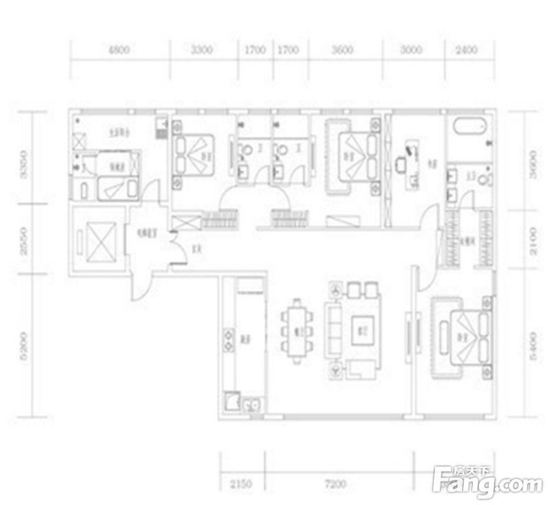 廈門裝修方案03單元|5室2廳4衛1廚