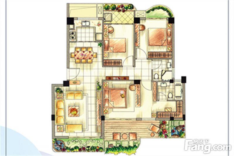 廈門裝修方案G戶型|3室2廳2衛1廚