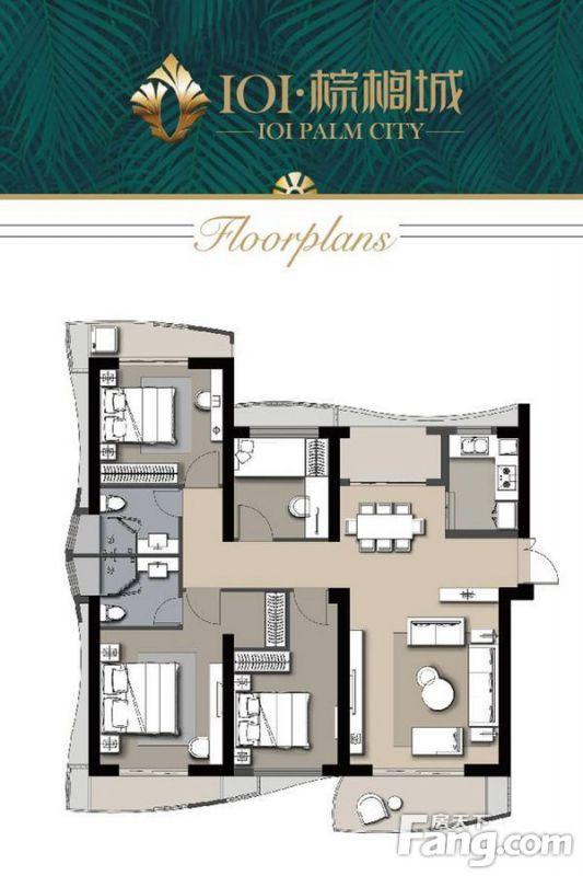 廈門裝修方案C戶型|4室2廳2衛1廚