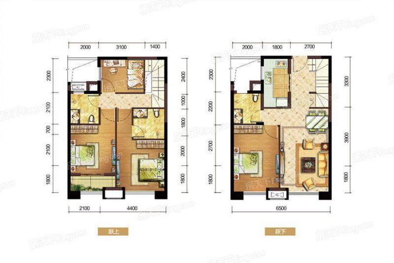 廈門裝修方案D戶型|4室2廳3衛1廚