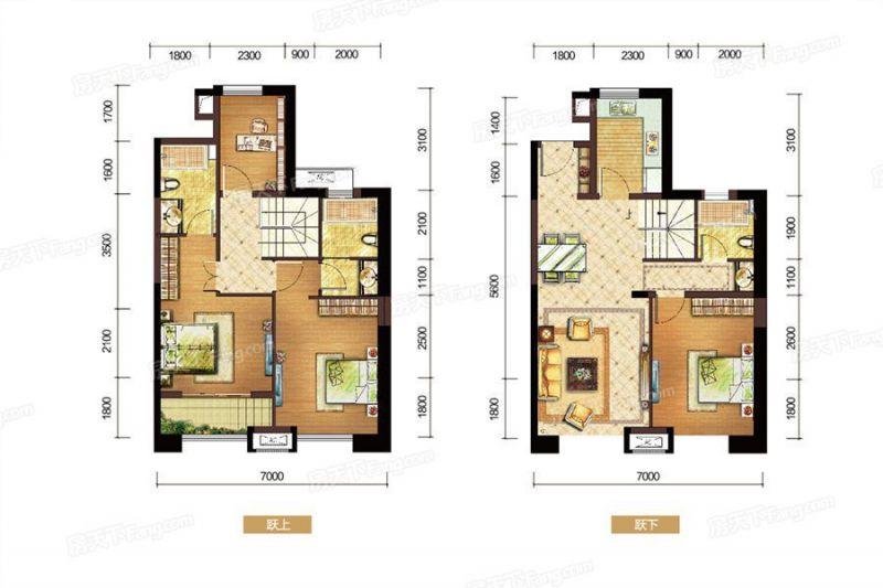 廈門裝修方案E戶型|4室2廳3衛1廚