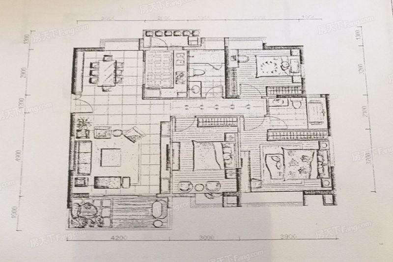 廈門裝修方案C2戶型135㎡|3室2廳2衛1廚