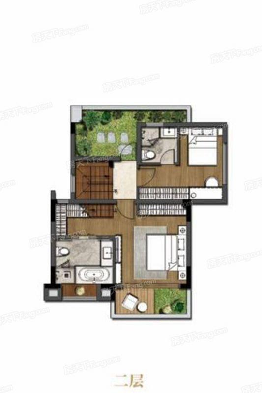 廈門裝修方案M1-1約106㎡(中套上疊)|4室2廳3衛1廚