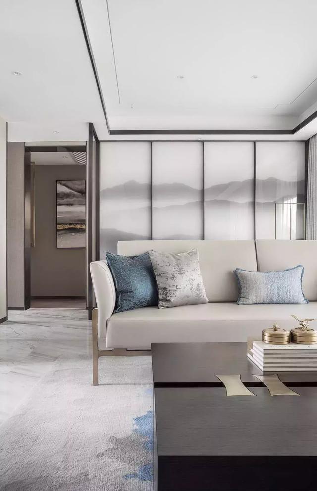 尚層空間裝修案例|線條與簡中式的搭配,內斂雅致的中式感中又不失一份時尚現代感。