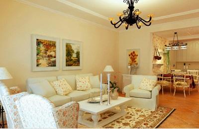天瑞龍庭 85m2 兩室一廳  裝修  田園風格
