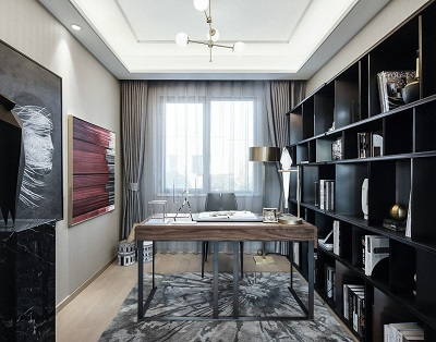 香缇雅境三期  120㎡  三室两厅    装修  混搭风格