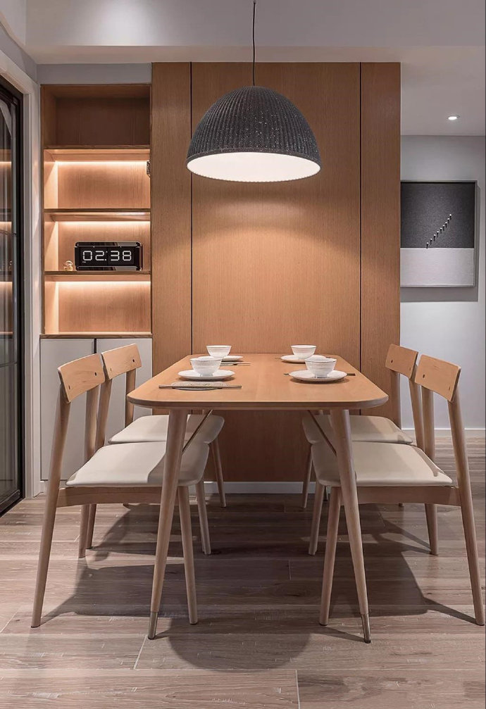 烏魯木齊2021年家裝效果圖-85平素暖北歐風三居