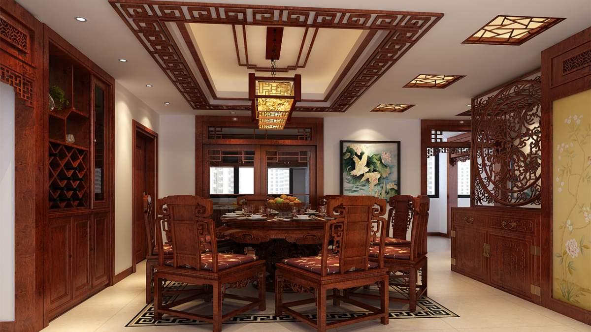 尚層空間裝修完工案例-和興北城大觀115㎡中式格調