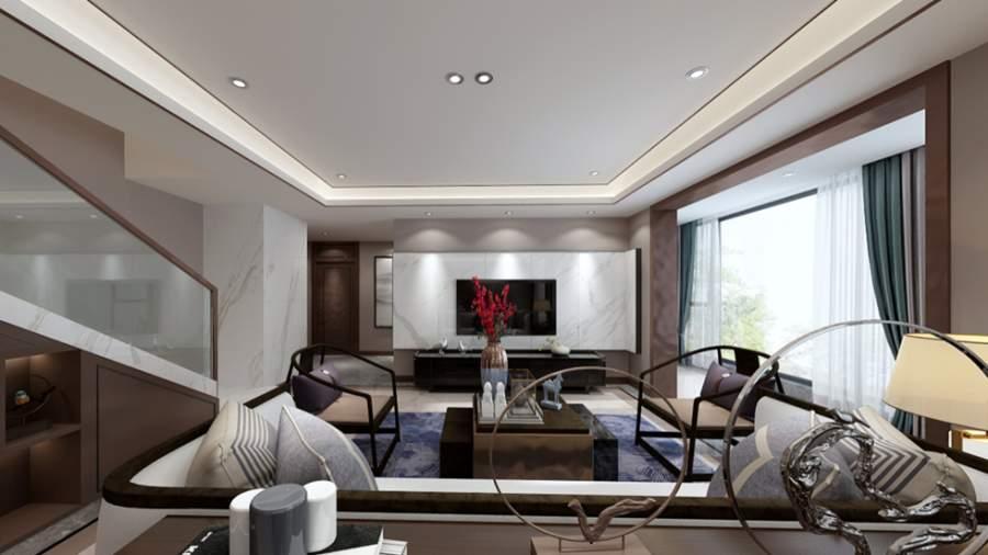 天山区向阳花园147m²新中式复式设计(尚层空间出品)