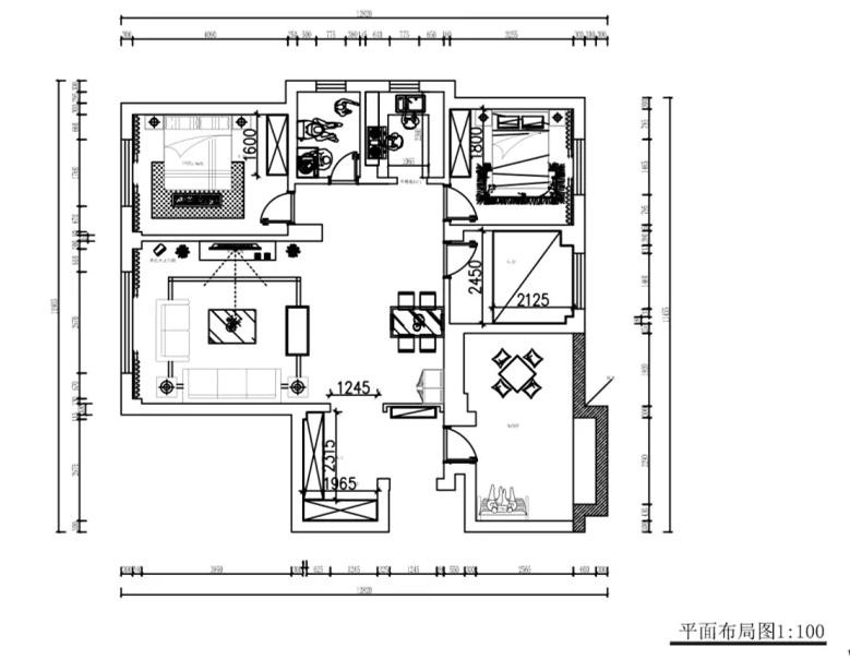 開發區城市九點陽光115㎡輕奢北歐3室2廳(尚層空間精選)