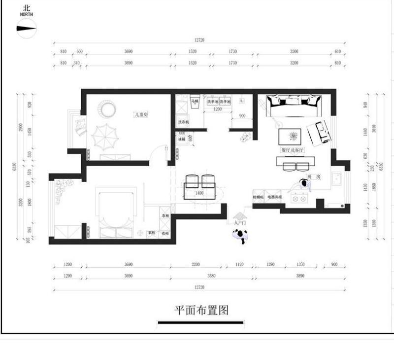 尚層空間-新市區紅墅小院里5萬裝出的78m2田園風