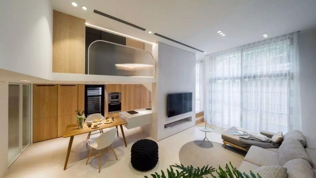 尚層空間精選|50㎡復式樓現代裝修風格,別墅般的感受