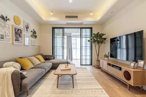尚層空間 中城國際城106㎡原木簡約兩居室的暖色樸質風