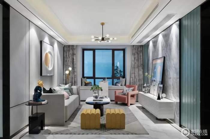 尚層空間 廊橋水鄉125平現代輕奢時尚高級三居室