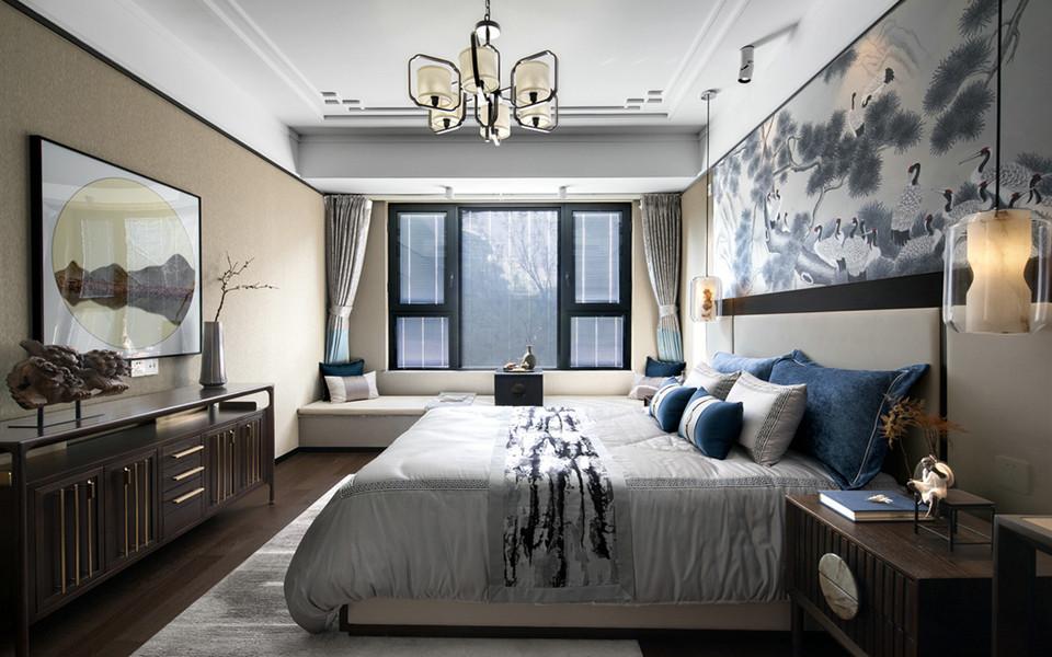 180平米四居室中式风格新房装修效果图