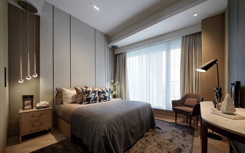 南京装修案例90平中式风格三居室装修效果图