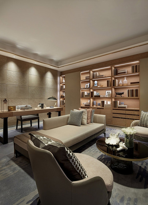 90平中式风格三居室装修效果图