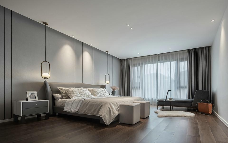 南京装修案例紫金华府现代简约三室两厅装修效果图