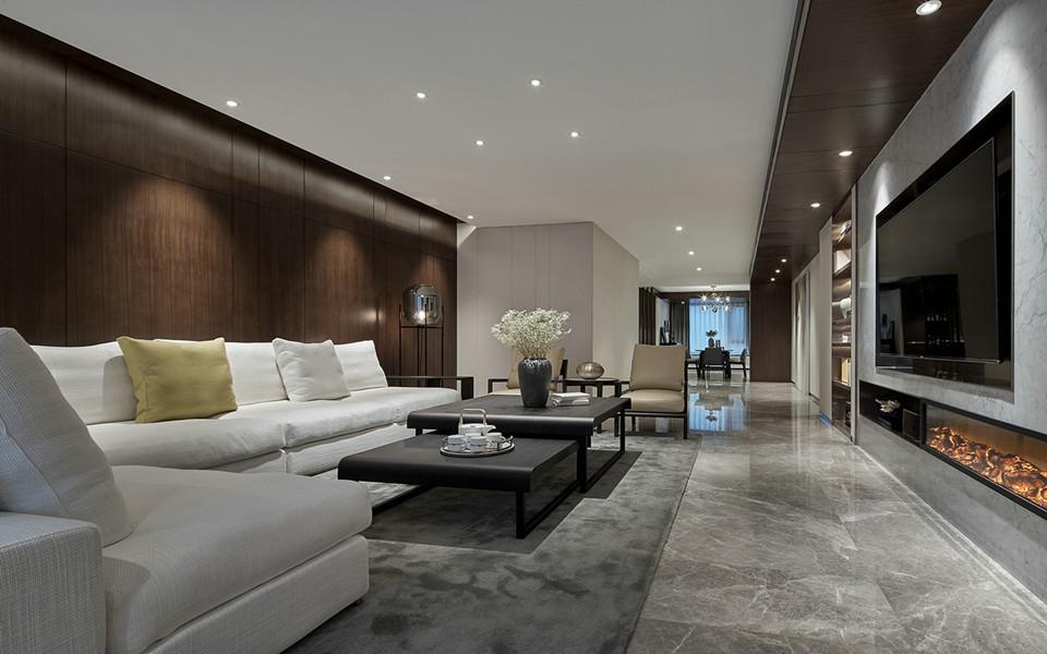 紫金华府现代简约三室两厅效果图