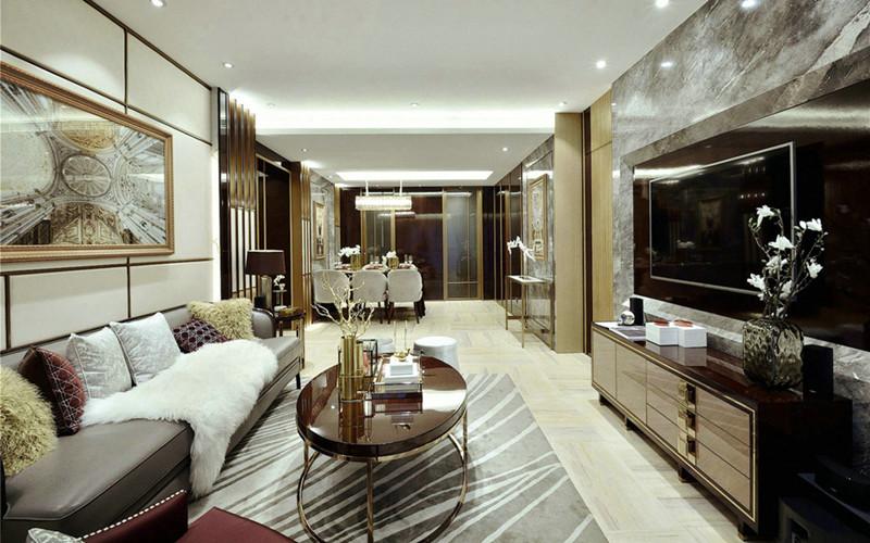 118平方简约风格三居室装修效果图