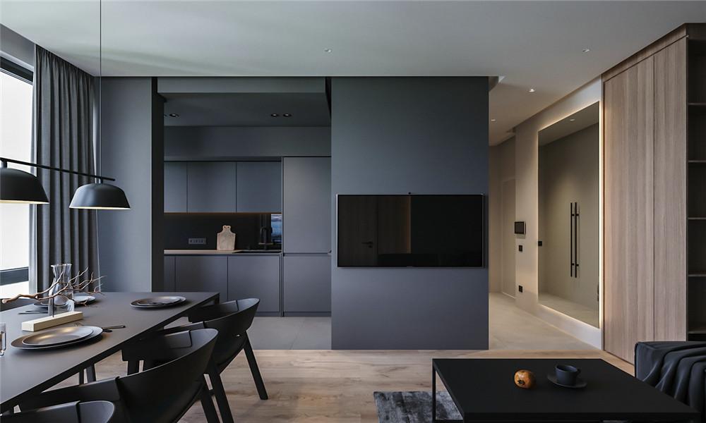西安装修案例现代公寓
