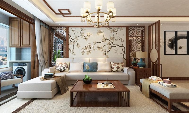 西安装修案例曲江龙邸新中式