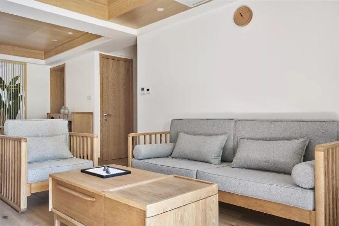 西安装修案例日化小区93平米日式风格