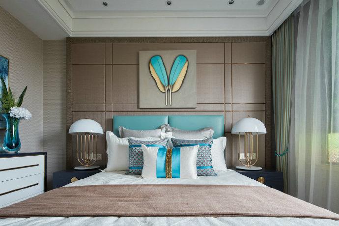 102㎡现代与新古典混搭风格家居装修设计