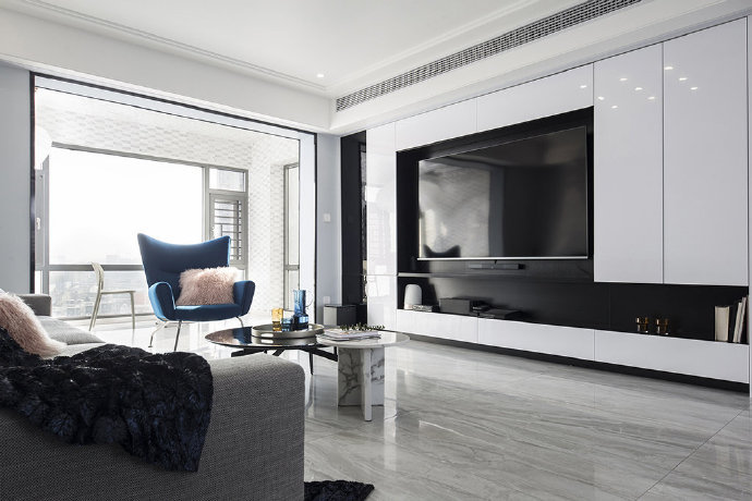 西安装修案例现代简约风三居室设计,美好舒适的明亮空间 