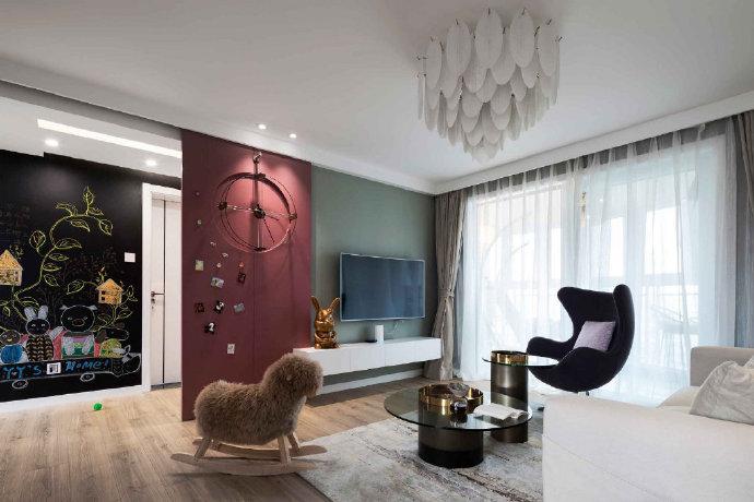 简约北欧风两居室装修设计 ,有一种生活叫阳光。
