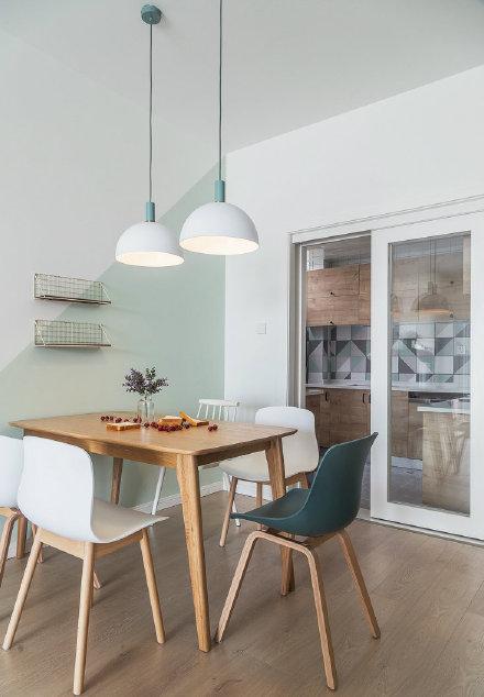 西安装修案例原木家具、绿色清新