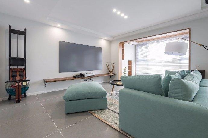 西安装修案例120㎡简约三居室 舒适的开阔空间 