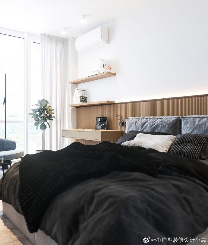 現代極簡小公寓,天然木材飾面的溫馨搭配