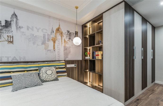 115㎡现代简约三居室,色彩运用沉稳大气,造型简洁干练,很不错的设计! 