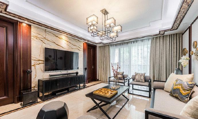 西安装修案例东兴豪庭定装修赠送全房大地砖免费出效果图方案设计