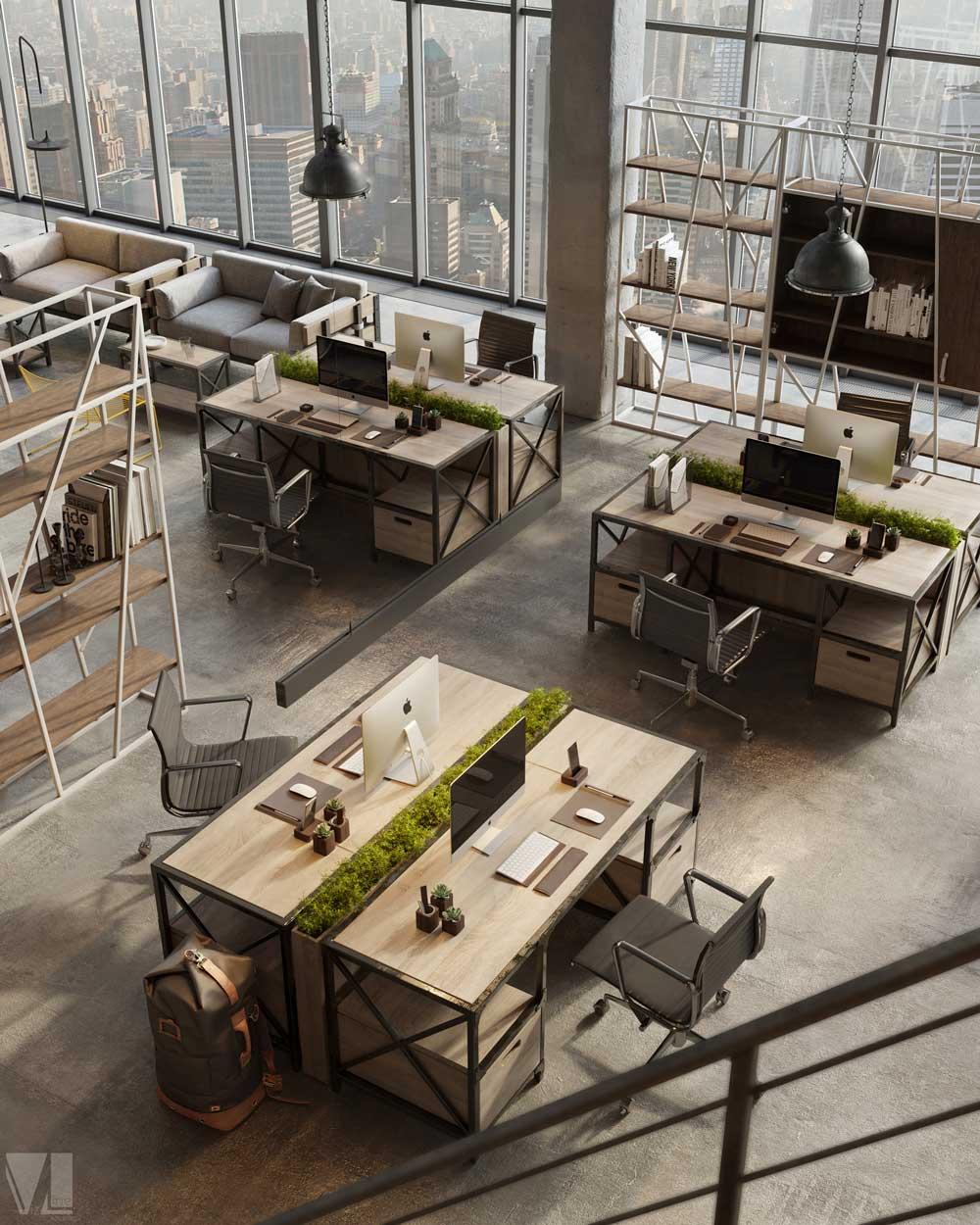 工業風辦公室2