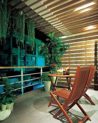 阳台设计,巧用绿植惬意阳台空间