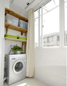 将阳台作为洗衣房和晾衣房