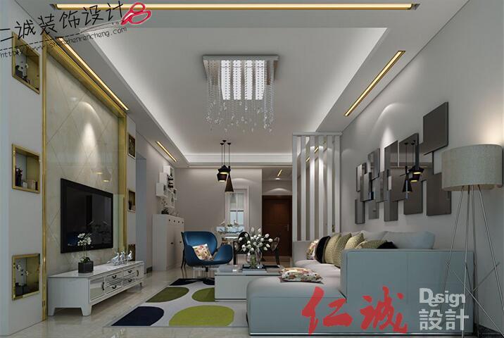 深圳装修案例沙井中泰国际 139方半包5.8万现代