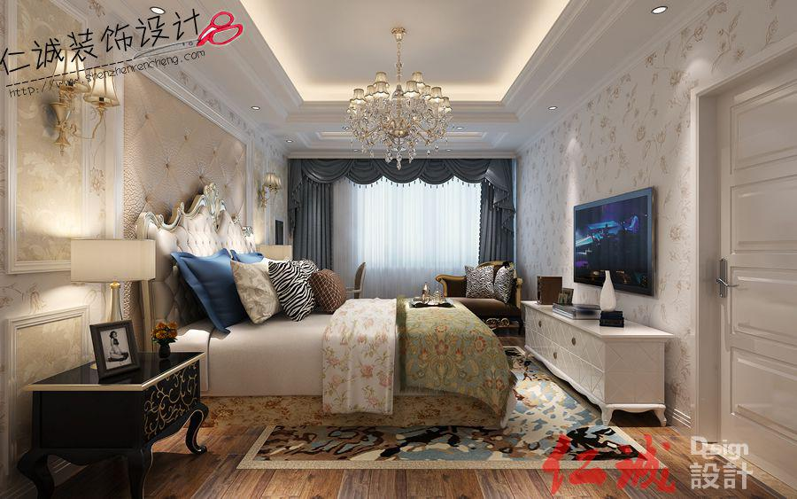 深圳装修案例欧式风格卧室装修效果图-光明新区光明大第效果图案例