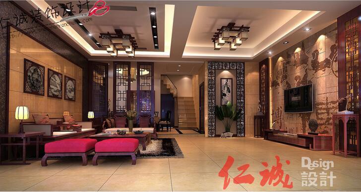 深圳装修案例福永翻新装修公司设计-新中式风格御景水岸案例