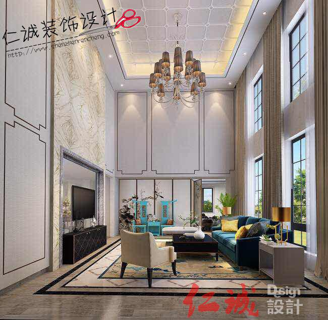 龙光城 220方半包10万中式