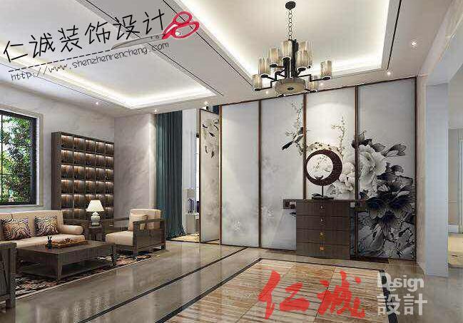 深圳装修案例龙光城 220方半包10万中式