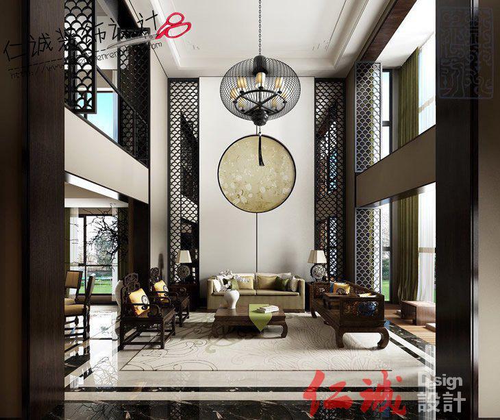 深圳装修案例中式客厅装修效果图