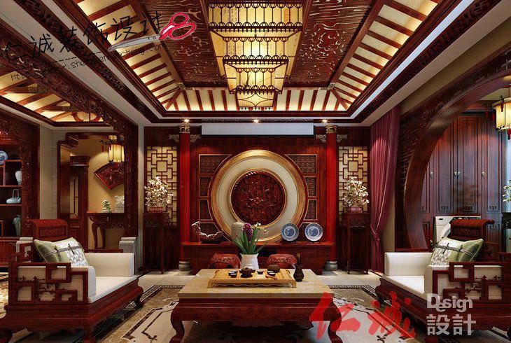 深圳装修案例古典风格中式装修设计图