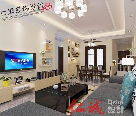 深圳现代风格客厅装修效果图