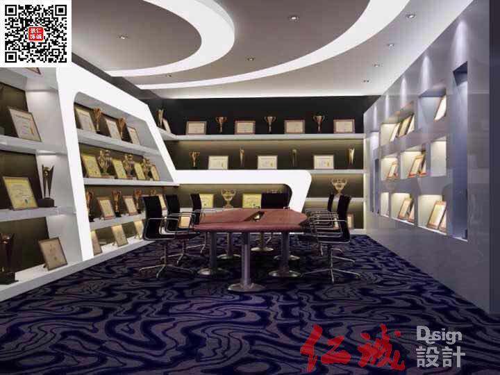 深圳办公荣誉室装修效果图